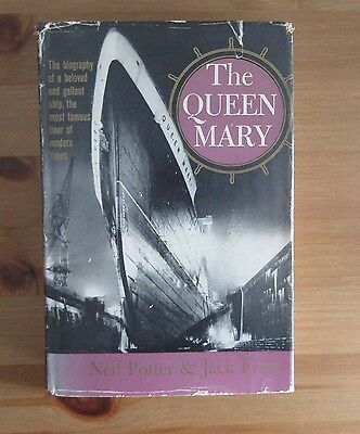 old 1961 CUNARD RMS QUEEN MARY BOOK potter