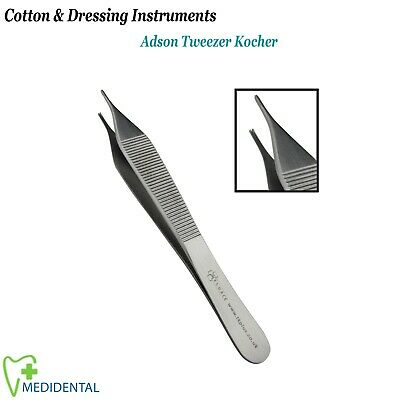 Dental Tweezer Adson 1X2 Toothed, Dentists Implantology Pinzette Pinzas Surgical