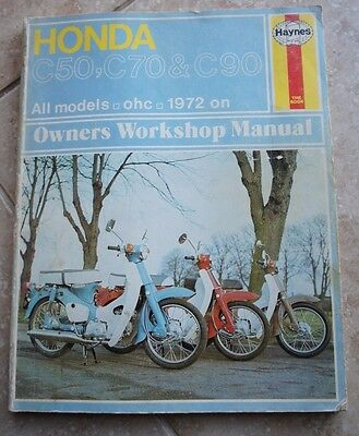 HONDA C50, C70 & C90 ( 1972 - 1977 ) Owners Workshop Manual Haynes