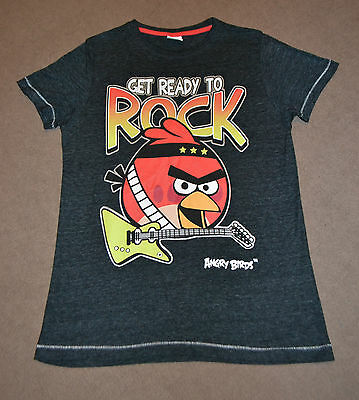 Next Black Angry Birds Rock T-Shirt size 11 years