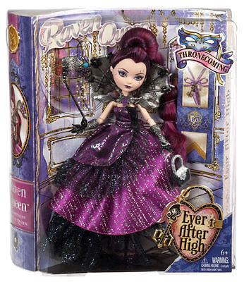 Ever After High - Thronecoming - Raven Queen Doll - Daughter of Evil Queen New