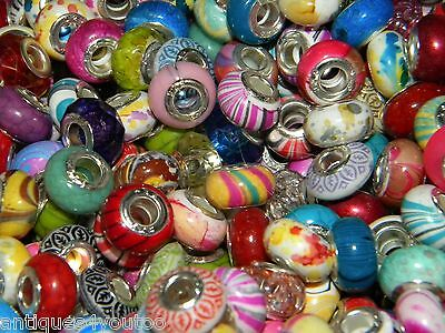 Hot 100/pcs SPECIAL NEW Charm 925 Silver European Assorted BEADS (Sa1)