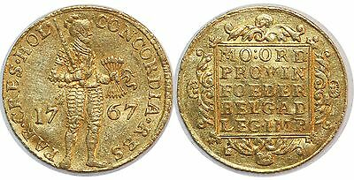 Pays Bas Holland Ducat Or 1767 Km#12.3 Gold