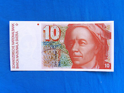 1990 Switzerland 10 Francs Banknote *P-53h.3*       *VF-XF*