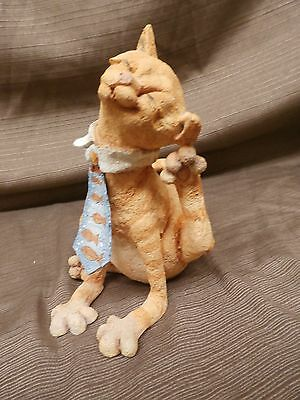 Country Artist A Breed Apart Whimsical FAT CAT JUNIOR ORANGE TABBY WITH TIE  NEW