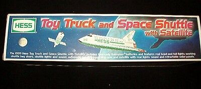 Hess 1999 Toy Truck And Space Shuttle W/ Satellite  In Original Box