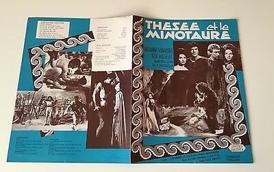 THESEE ET LE MINOTAURE/WARLORD OF CRETE - Synopsis Original