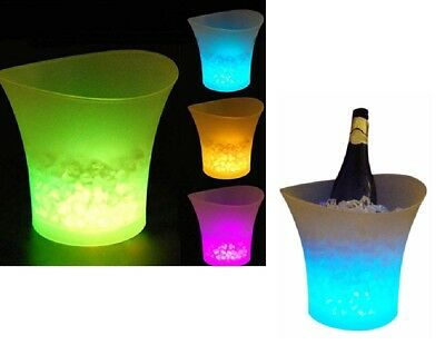 Cestello per il ghiaccio MULTICOLOR Seau a glace Champagne VODKA luminoso a LED