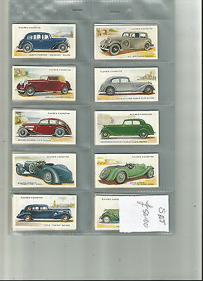 Full Set - Players - Motor Cars 2nd series - 1937