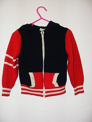 Vintage 1970s Sweater with Hoodie by EGO-TRIX in size 3T