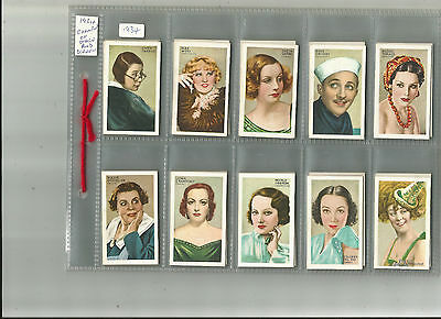 Full Set -  Gallaher- Champions of Screen & Stage- 1934