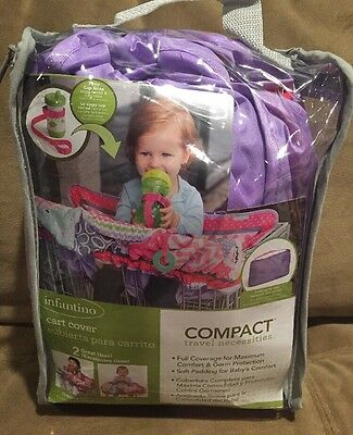 Infantino Compact Cart Cover, Sparkle Girl, Purple, High chair/cart Cover, *NEW*