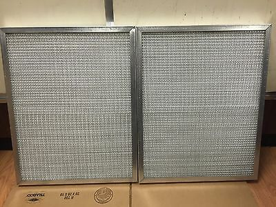 NEW Lot 2 Washable Metal Air Filter Multiple Stainless Steel Mesh - 26 x 21 x 2