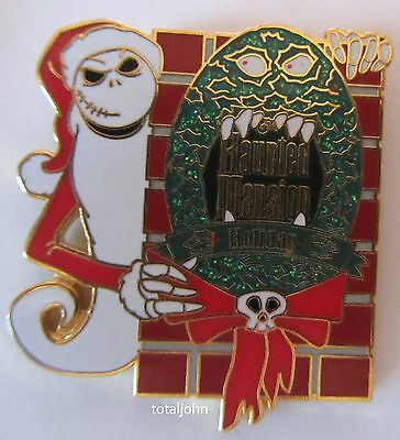 Disney Nightmare Before Christmas Jack with Haunted Mansion Holiday Sign Pin