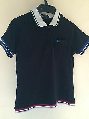 Fred Perry Women's top size 10 in black with trim