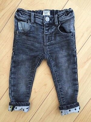 Toddler Boys Next Black Jeans In Size 9 - 12 Months