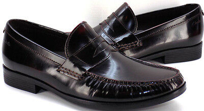 CLARKS Plus Cordovan Leather Slip On Penny Loafer Men's US Shoe Size 9M