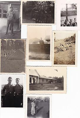 Photo Originale 39 / 45 Ww2 9 Photos Soldats Les Divers Front De Combats Lot 15