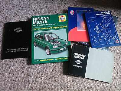 nissan micra k11 haynes manual owners manual and general glove box books