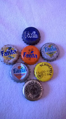 7 the number of old caps from Fanta and Schweppes