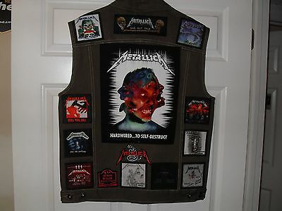 Metallica Tribute Vests-OLIVE-XL....Slayer, AC/DC,Megadeth, Iron Maiden,Overkill