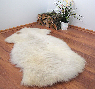 "GENUINE 100% NATURAL SHEEPSKIN RUG 45x28"" FUR PET BED #22705"