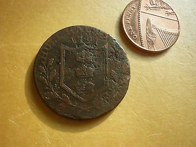 Gt Britain - Collectable 1791 Hull Copper Halfpenny Token