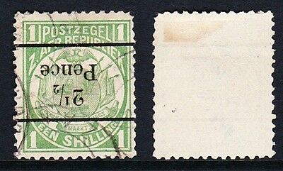 Transvaal 1893 SG199b 2.5d on 1s Green Used - Black OP Inverted