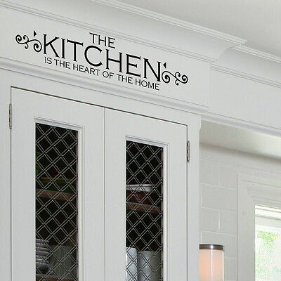 Heart of the Home Kitchen Wall Stickers Quote Decal Vinyl Transfer SML/BLK kq15