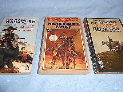 Collection of 3 Vintage WESTERN Paperbacks #5