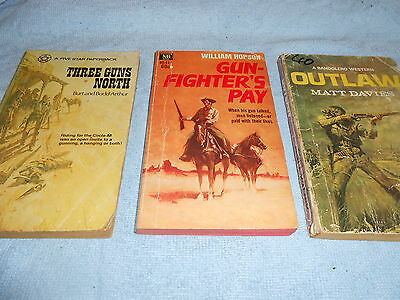 Collection of 3 Vintage WESTERN Paperbacks #4