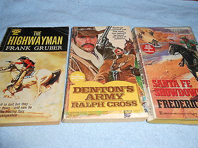 Collection of 3 Vintage WESTERN Paperbacks #2