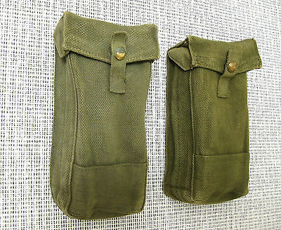 Pair Of British Army Ww2 Mkiii P37 Basic Pouches Ammo 1942