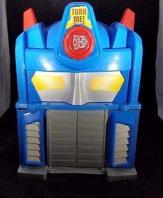 Transformers Rescue Bots Playskool Heroes Fire Station Optimus Prime w/ Heatwave
