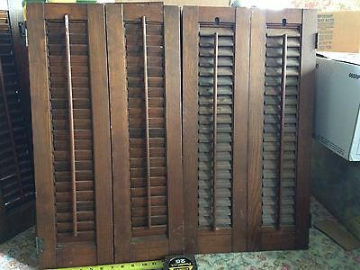 Vintage Wooden Shutters For Interior 7x26