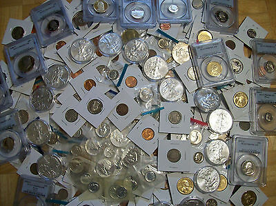 Mixed Lot Of U.s. Coins!! Proof, Uncirculated!! Guaranteed Silver And Graded B24