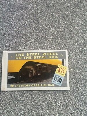 1986 Gb The Story Of British Rail £5 Stamp Booklet - Mint_Lot 1