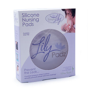 Lilypadz Silicone Nursing Pads - Brand New in Original Package - One Pair