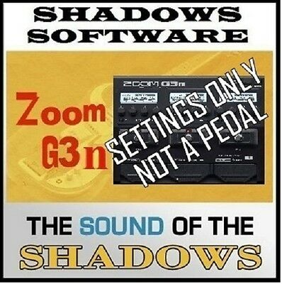 ZOOM G3n G3Xn PEDAL ART D'ECHO GENUINE SHADOWS SOUND (patches only NOT a pedal)