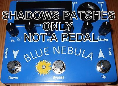 BLUE NEBULA PEDAL  ART D'ECHO GENUINE SHADOWS SOUND (patches only NOT a pedal)