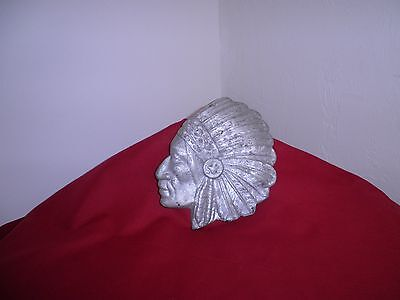 Antique Cast Metal Indian Head Plaque/casting Mold