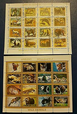 wildlife mix on blocks of stamps.