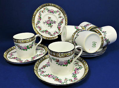 Antique Edwardian Aynsley Coffee Cans And Saucers ~ Coffee Cups ~ Espresso Cups