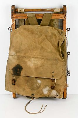 Old Vintage BOY SCOUT Trapper Nelson Style Pack Board Sled Canvas Bag