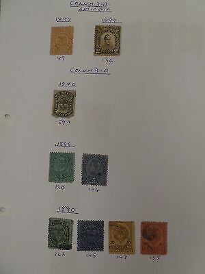 Colombia collection of 110 stamps 1870 onwards