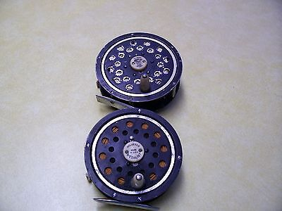 LOT OF 2 Vintage Pflueger Medalist 1496 1/2 and 1495 AK Fly Reels Made in USA