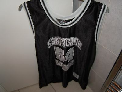 WORLD WRESTLING Black and White Sleeveless Martial Arts Top Size XL
