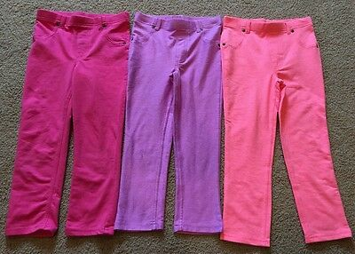 Lot Of 3 Garanimals Toddler Girls Leggings Pants Size 4T