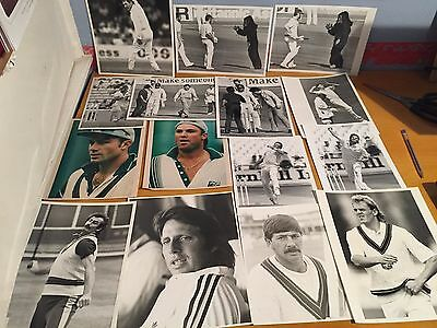 1970/80s 15 x Australia ashes Test Cricketers various Press Photographs Warne &