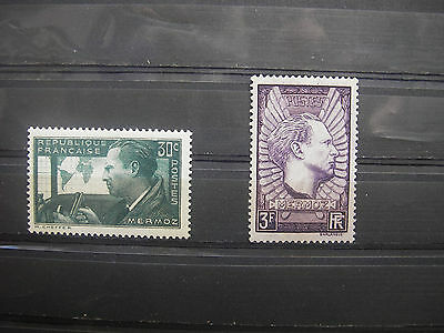 1937   timbre france yt n° 337/338  neuf **